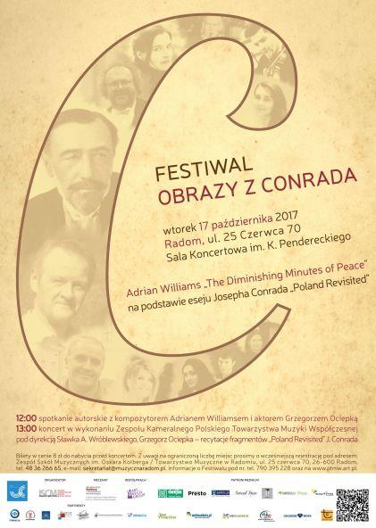 "Plakat Festiwalu ""Obrazy z Conrada"" [17.10.2017]"