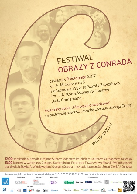 "Plakat Festiwalu ""Obrazy z Conrada"" [09.11.2017]"