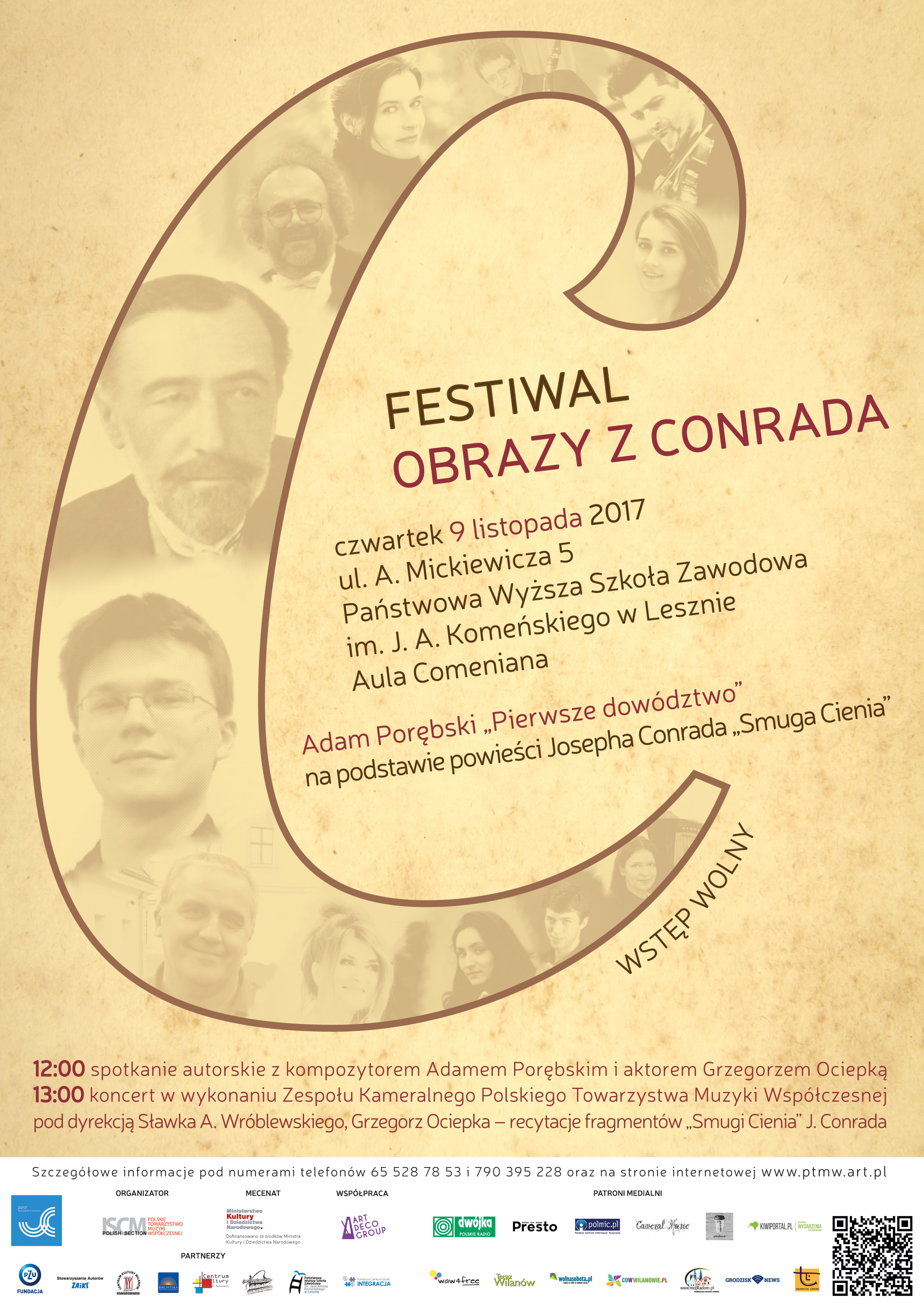 Plakat czwartej części Festiwalu OBRAZY Z CONRADA